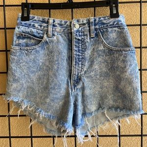`Guess' high-waisted and distressed shorts
